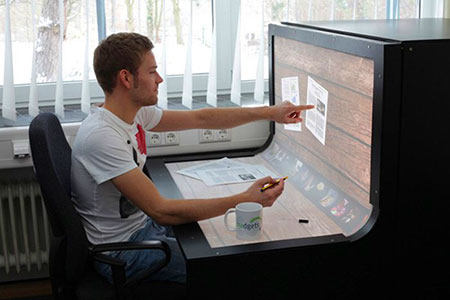Unusual Computer Desks benddesk is world's first multi-touch computer desk - techeblog