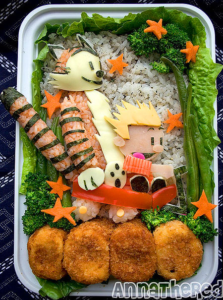 Calvin and Hobbes bento box