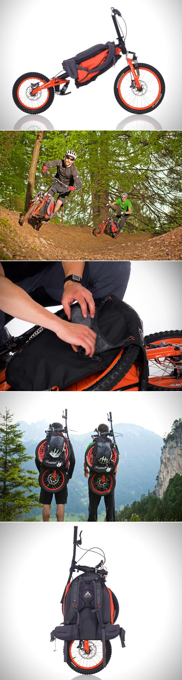 Bergmonch Folding Backpack Bicycle