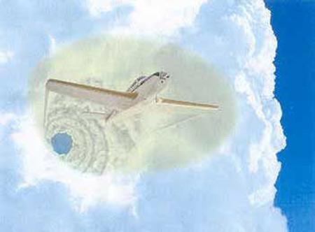 Histoire vraie de voyage d'un pilote dans un Vortex de temps de Triangle des Bermudes