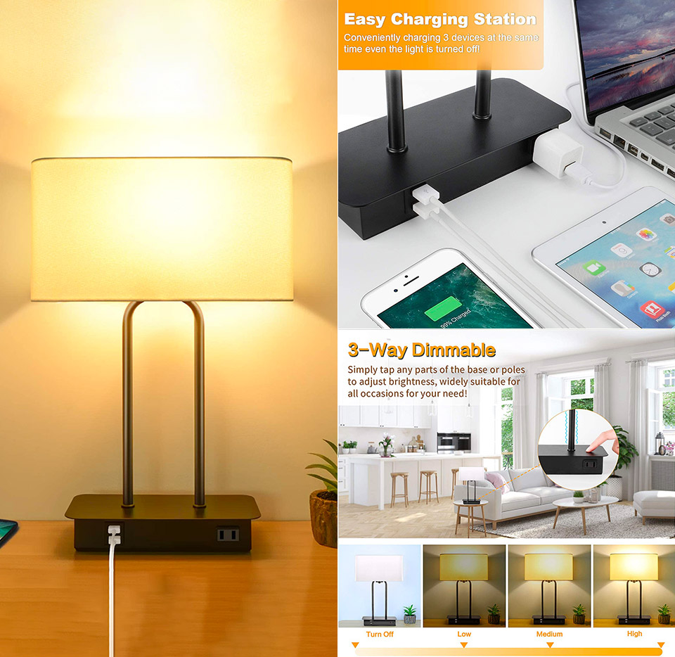 BesLowe 3-Way Touch Control LED Lamp