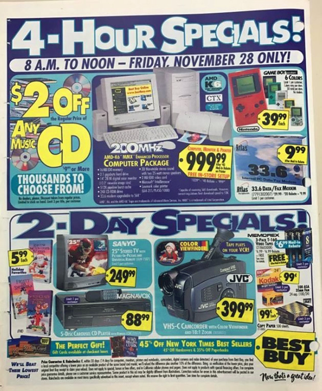 Best Buy Black Friday Ad From 1999 And 18 More Fascinating Images Techeblog