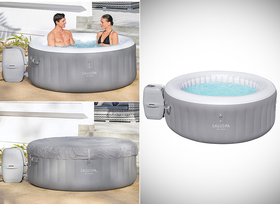 Bestway 60038E St Lucia SaluSpa AirJet Inflatable Hot Tub