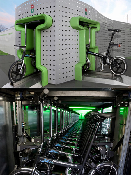 Bike Dispenser Vending Machine
