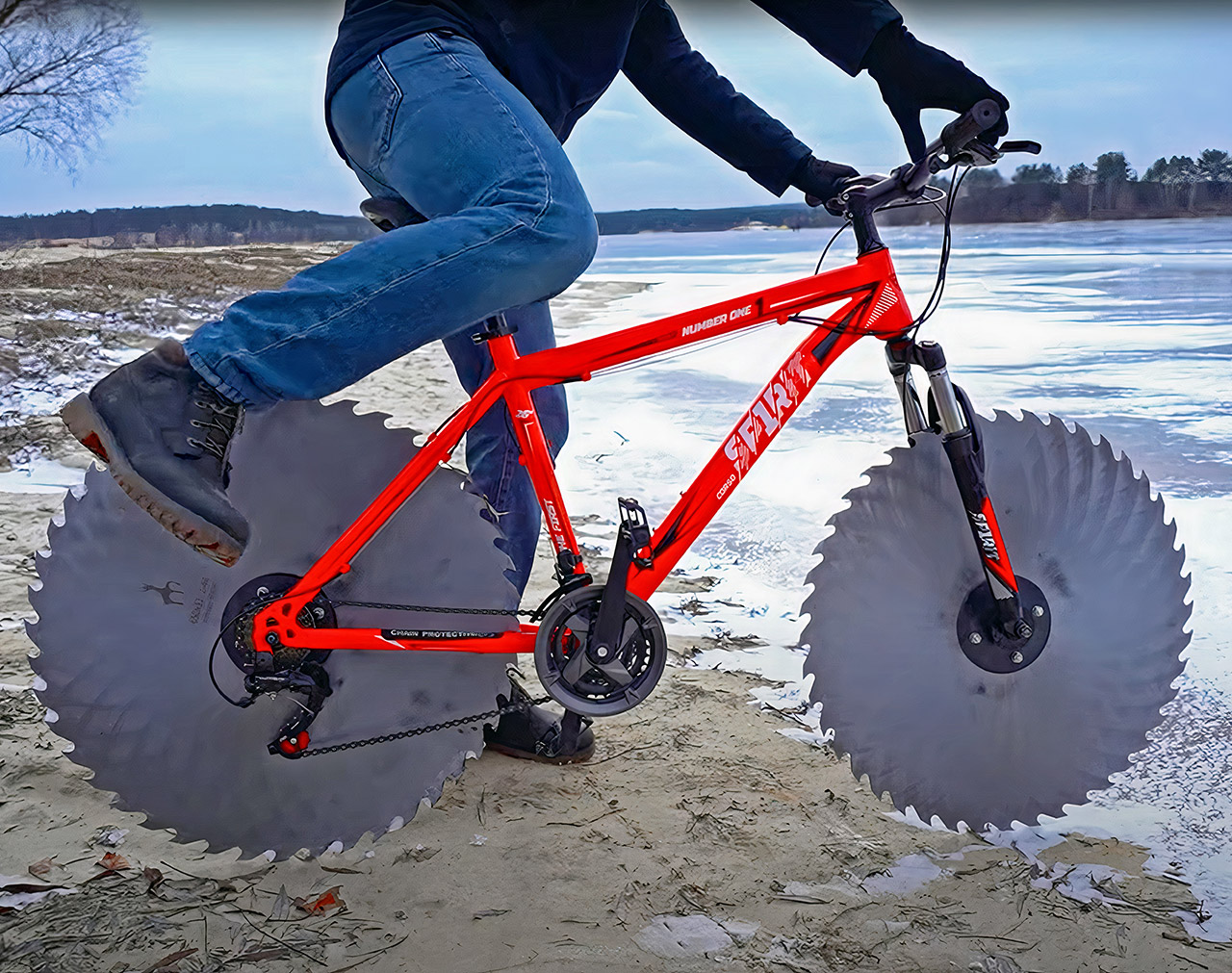 Bike Wheels Circular Saw Blades Cycling Ice