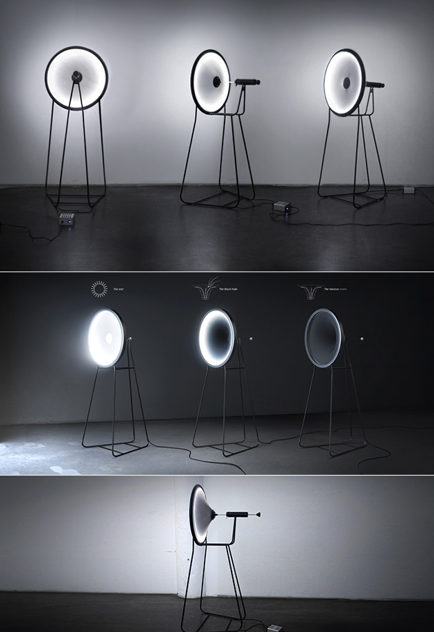 Black hole lamp