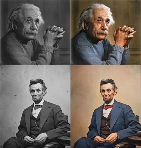 Famous black and white photographs get colorized