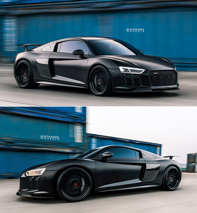 Blacked Out Audi R8