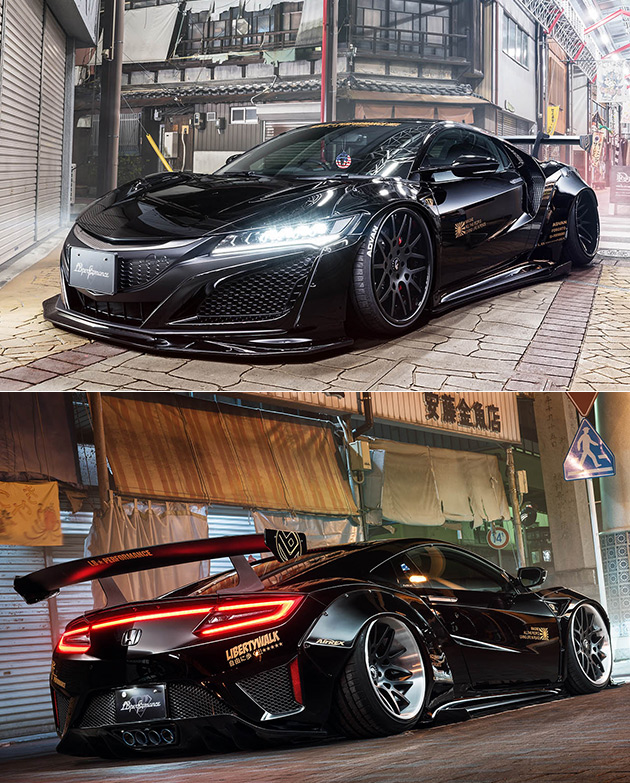 Blacked Out Liberty Walk NSX