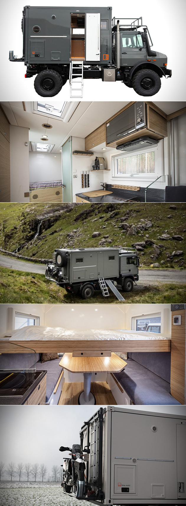 Take a Mercedes Truck, Add a Solar-Powered Container, and You Get Bliss Mobil Expedition Vehicles