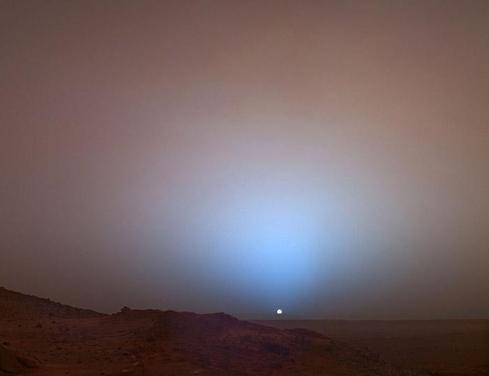 Blue Sunset Mars