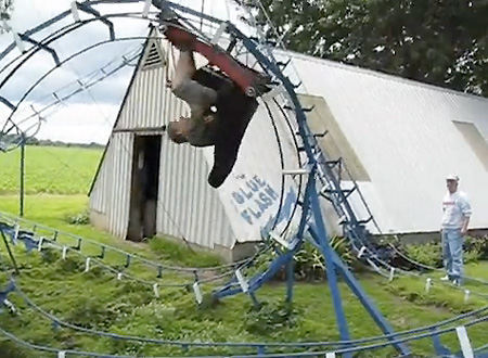 Man Builds Theme Park Style Roller Coaster In Backyard