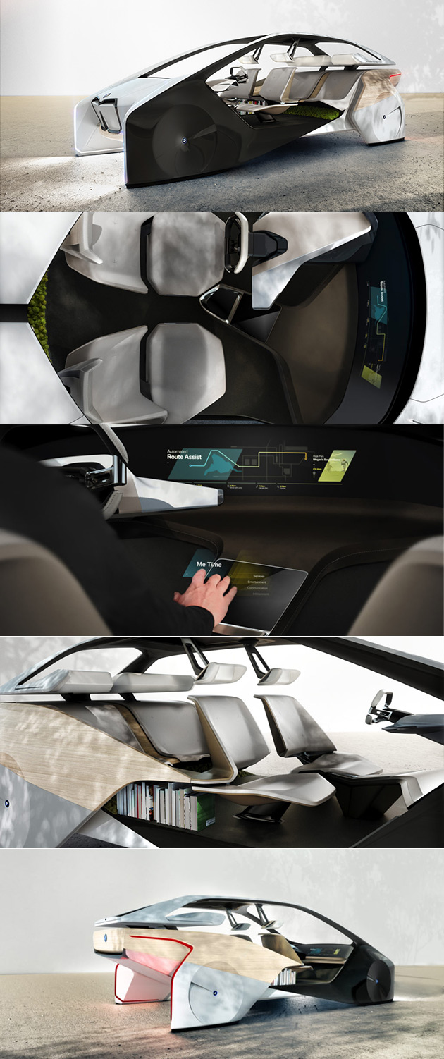 bmw i inside future shows what self driving cars could look like in 2020. Black Bedroom Furniture Sets. Home Design Ideas