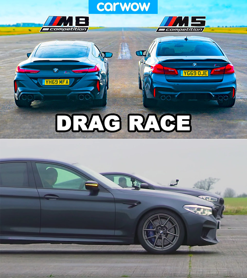 BMW M5 vs M8 Competition