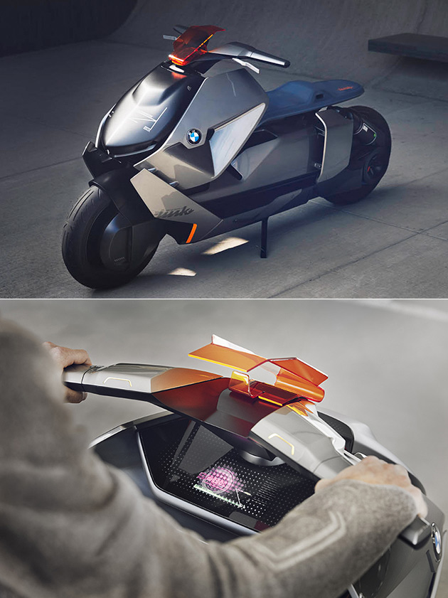 bmw motorrad concept link is a futuristic electric. Black Bedroom Furniture Sets. Home Design Ideas