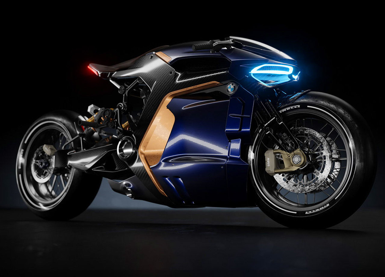 BMW Superbike Concept Motorcycle Cyberpunk