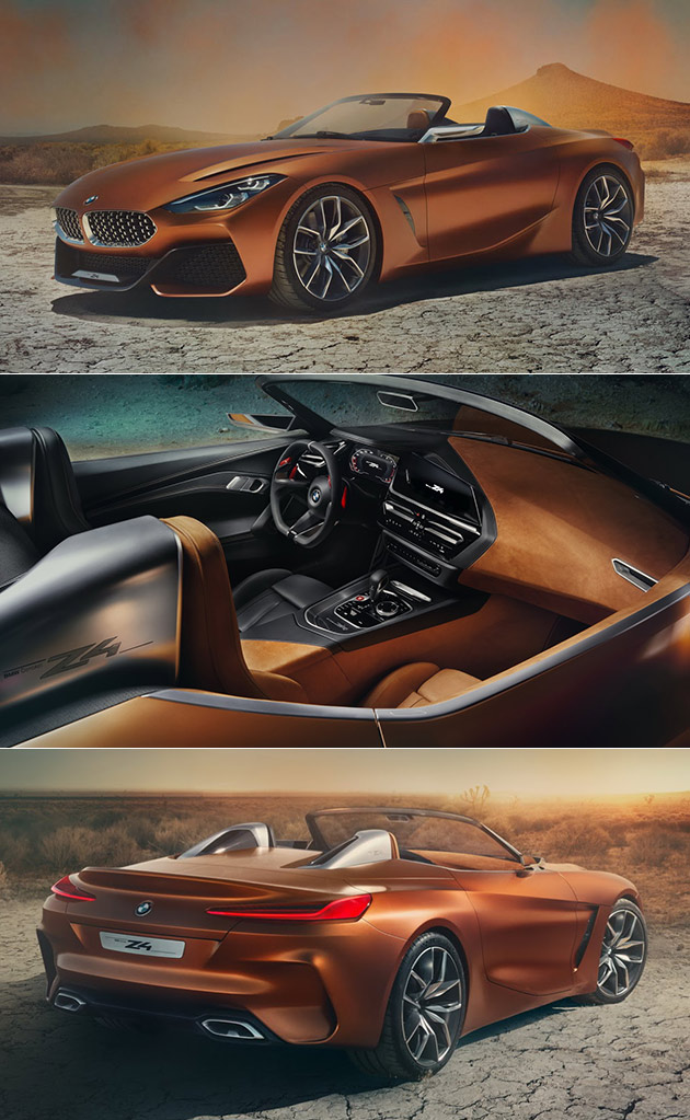 Bmw Z4 Concept Leaked Ahead Of Pebble Beach Debut Techeblog