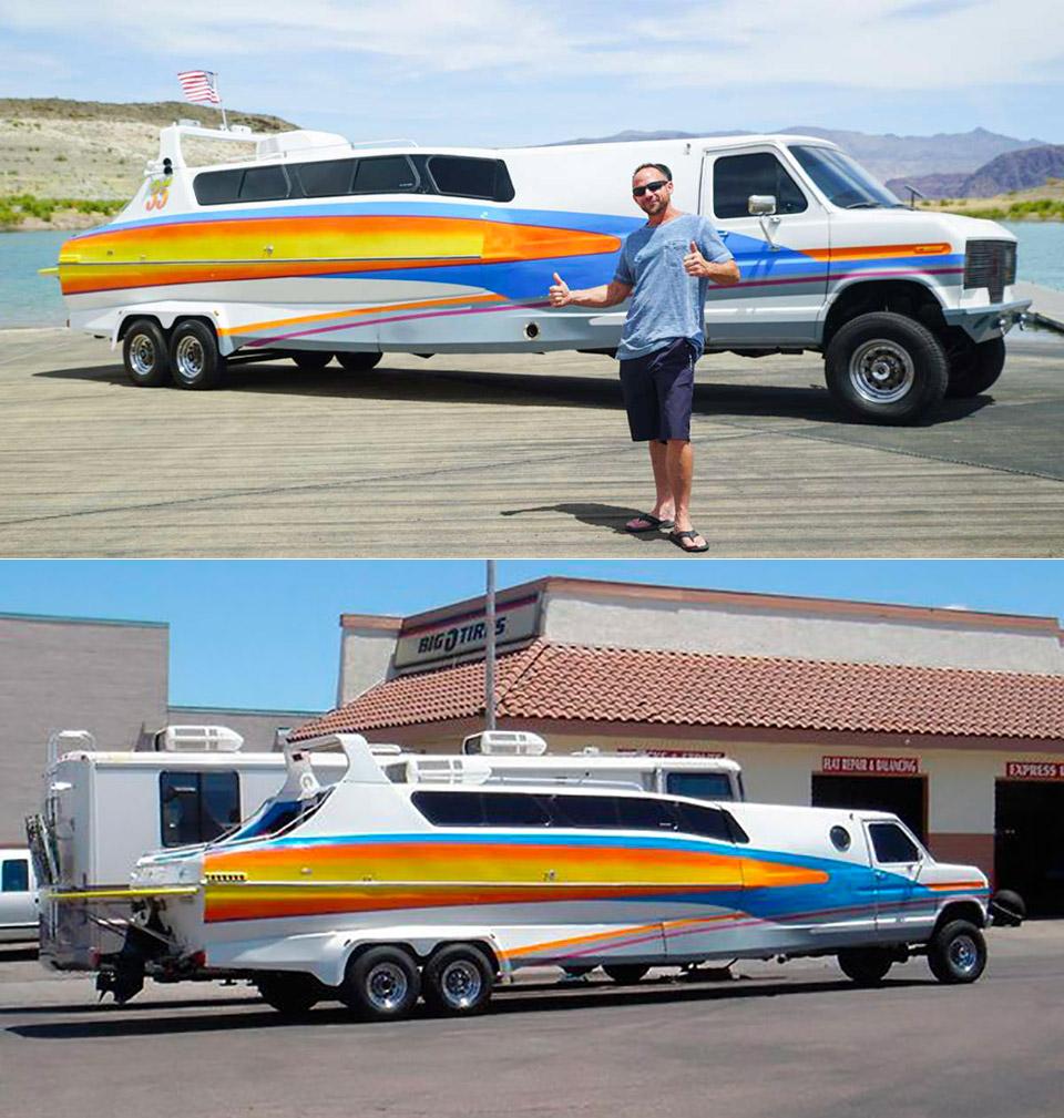Boaterhome Half Boat Van