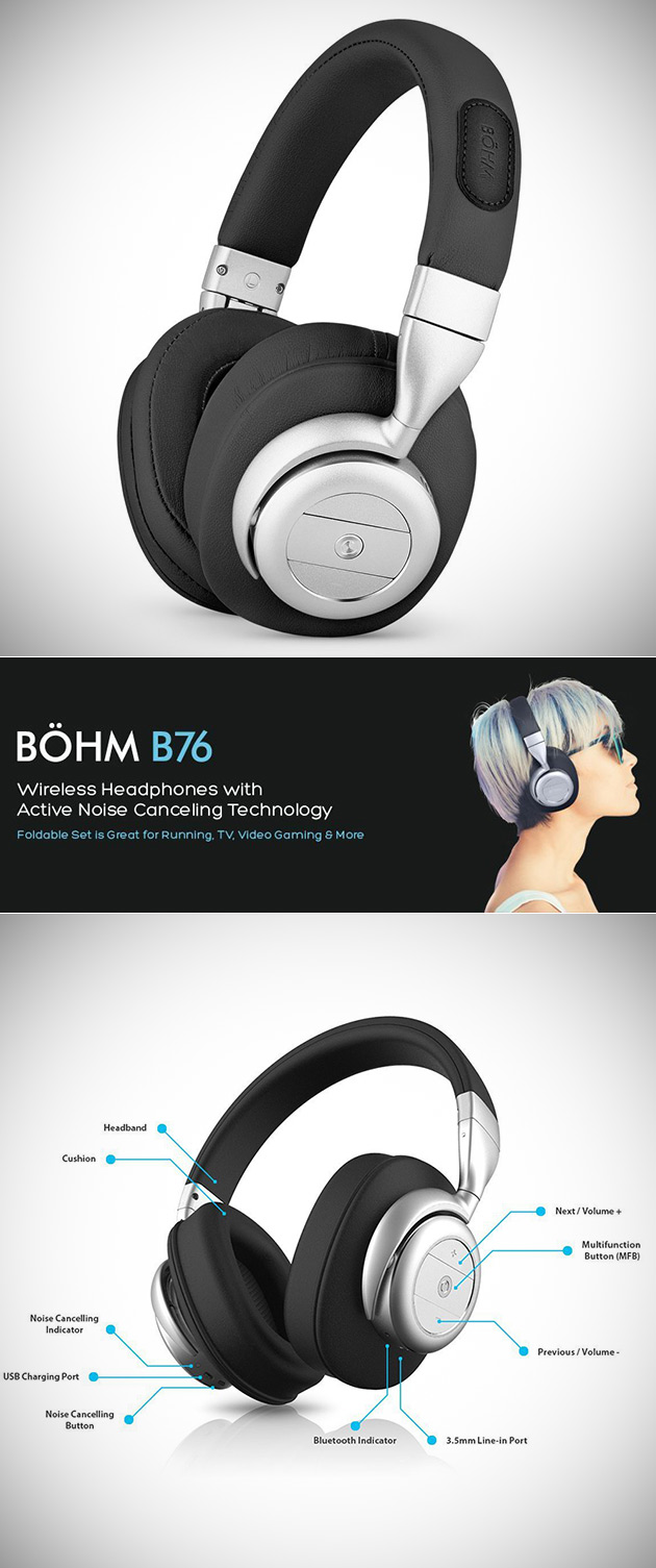 don t pay 170 get bohm s b76 wireless bluetooth over ear headphones for shipped today. Black Bedroom Furniture Sets. Home Design Ideas