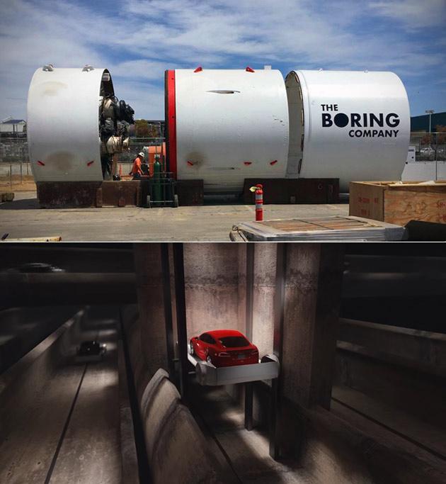 Boring Company Elevator