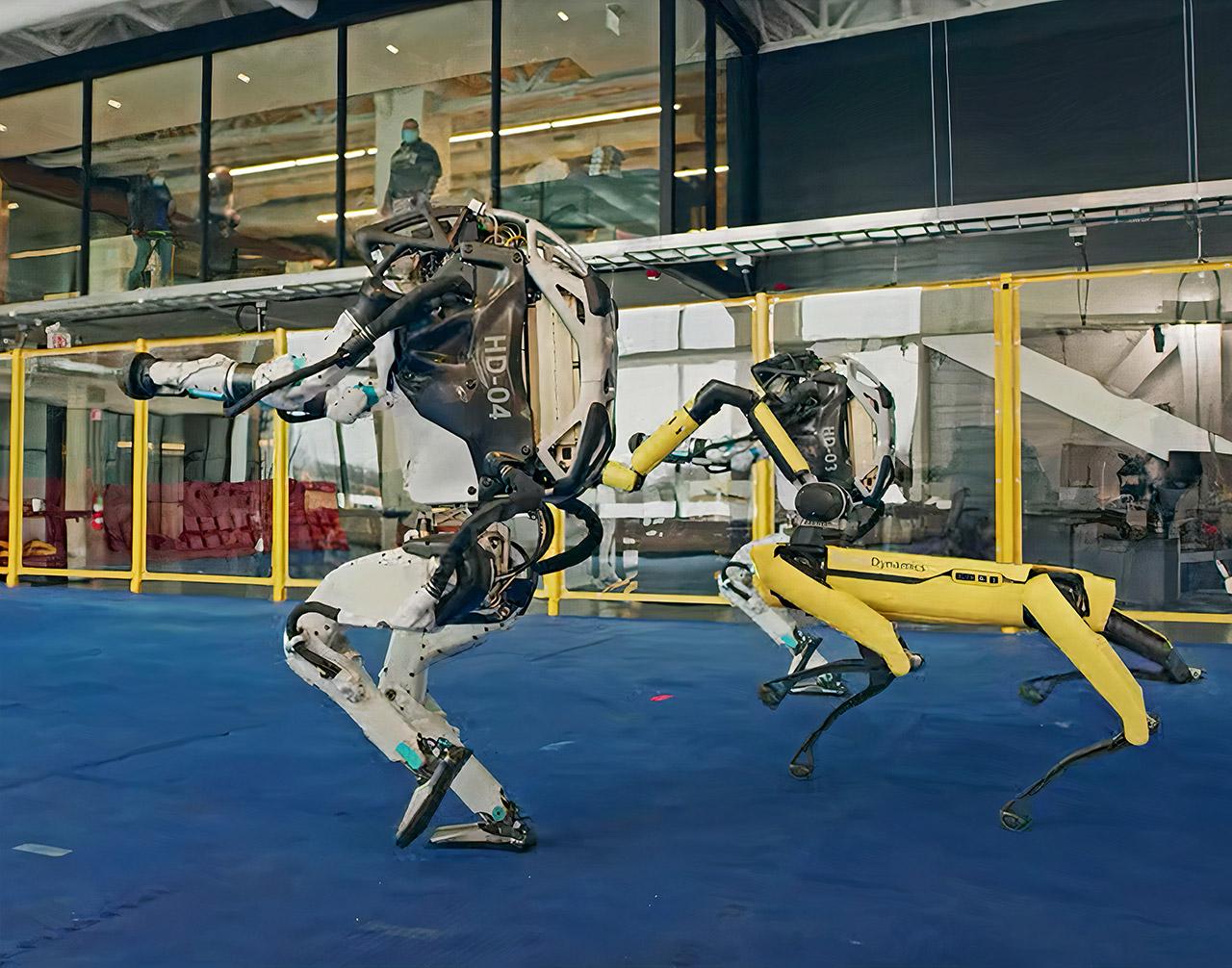 Boston Dynamics Atlas Spot Robot Dance