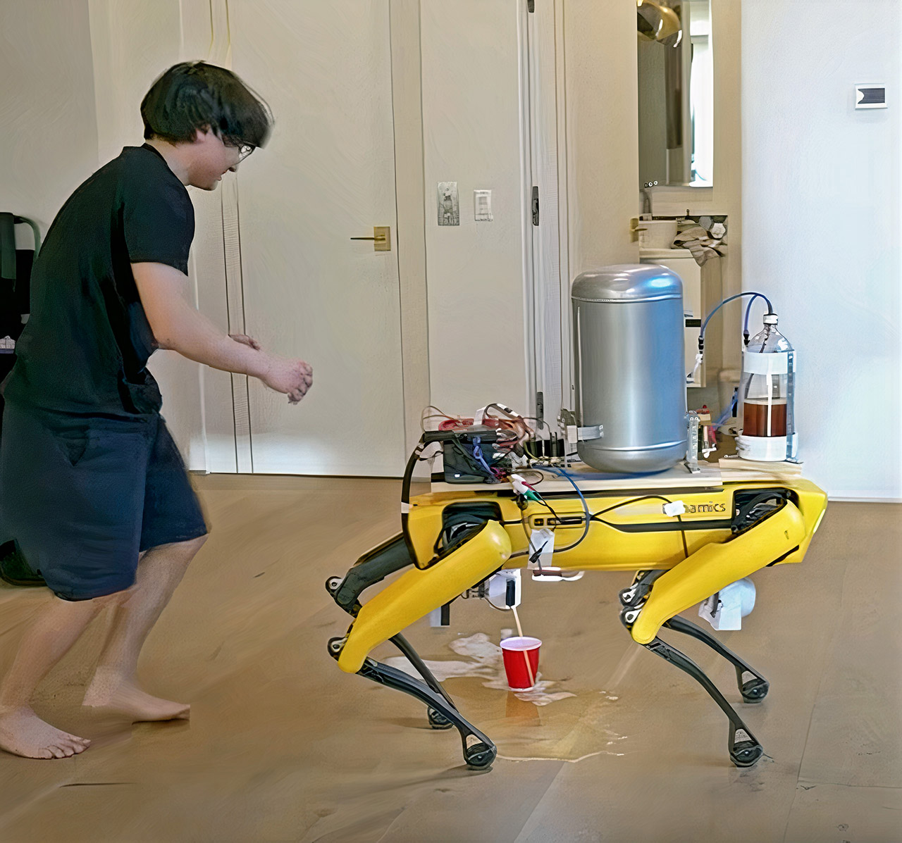 Boston Dynamics Spot Robot Beer