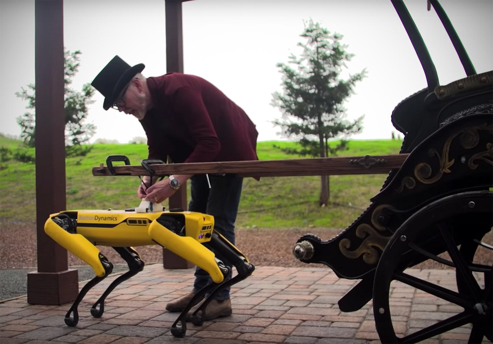 Boston Dynamics Spot Robot Rickshaw