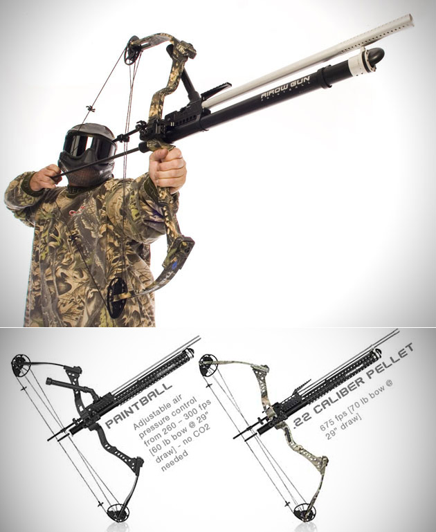 Airow Gun Converts Your Bow Into a Pellet or Paintball Thrusting Machine, No Compressed Air Required