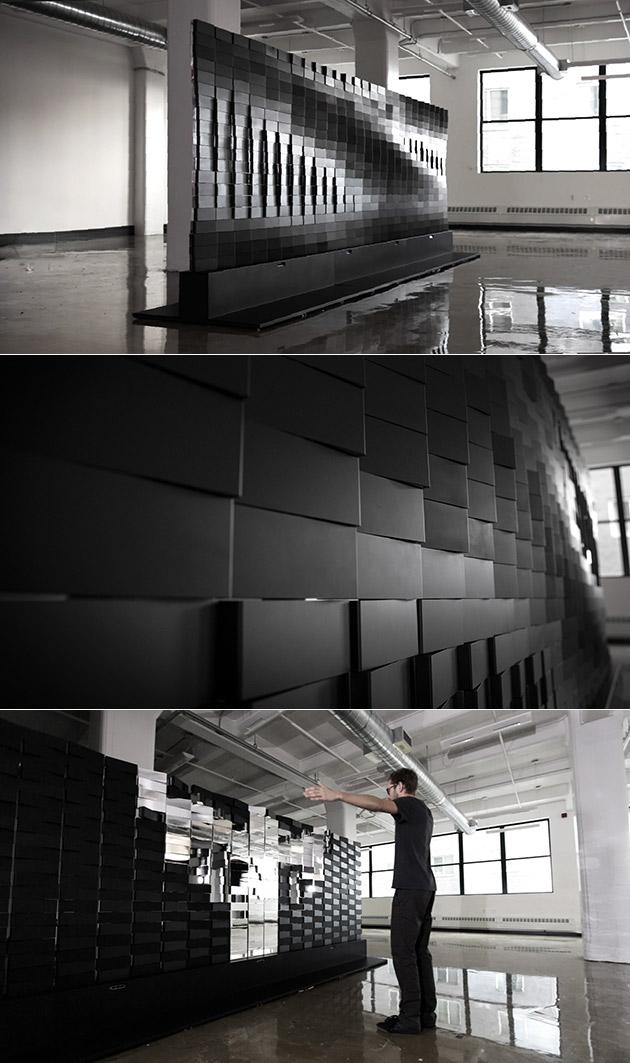 Brixel Spiegel ist Nicht eine Optische Täuschung, Nur ein 19-Fuß-Breite Installation Aus Brixels