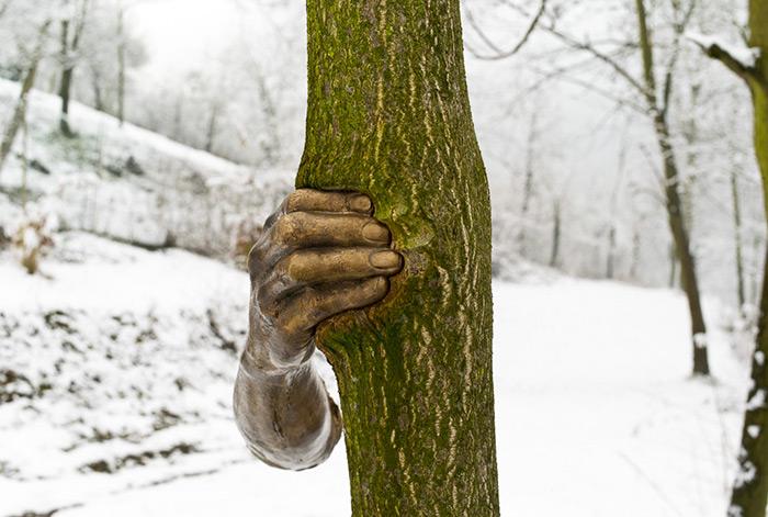Bronze Hand Tree