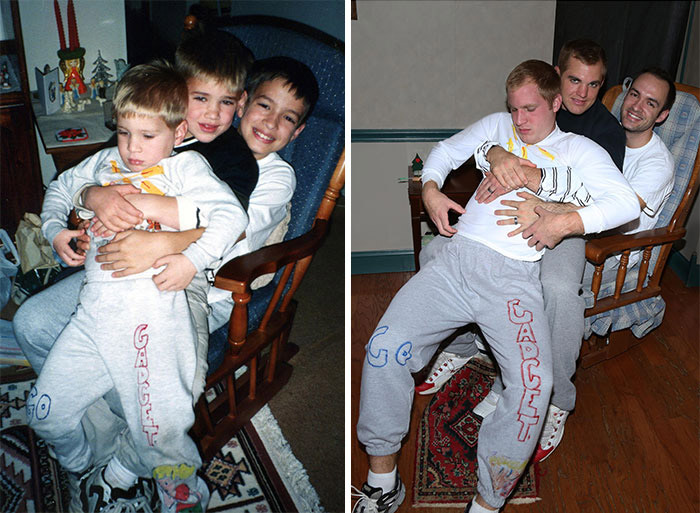 Brothers Recreate Childhood Photos