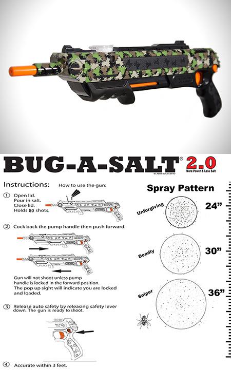 bug a salt 2 0 gun lets you shoot flies with salt is more powerful