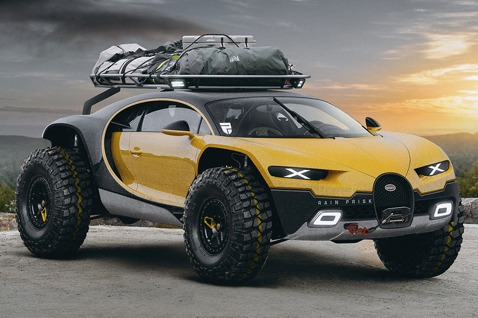 Bugatti Chiron Off Road Edition Gets Lifted Still Has 1 500