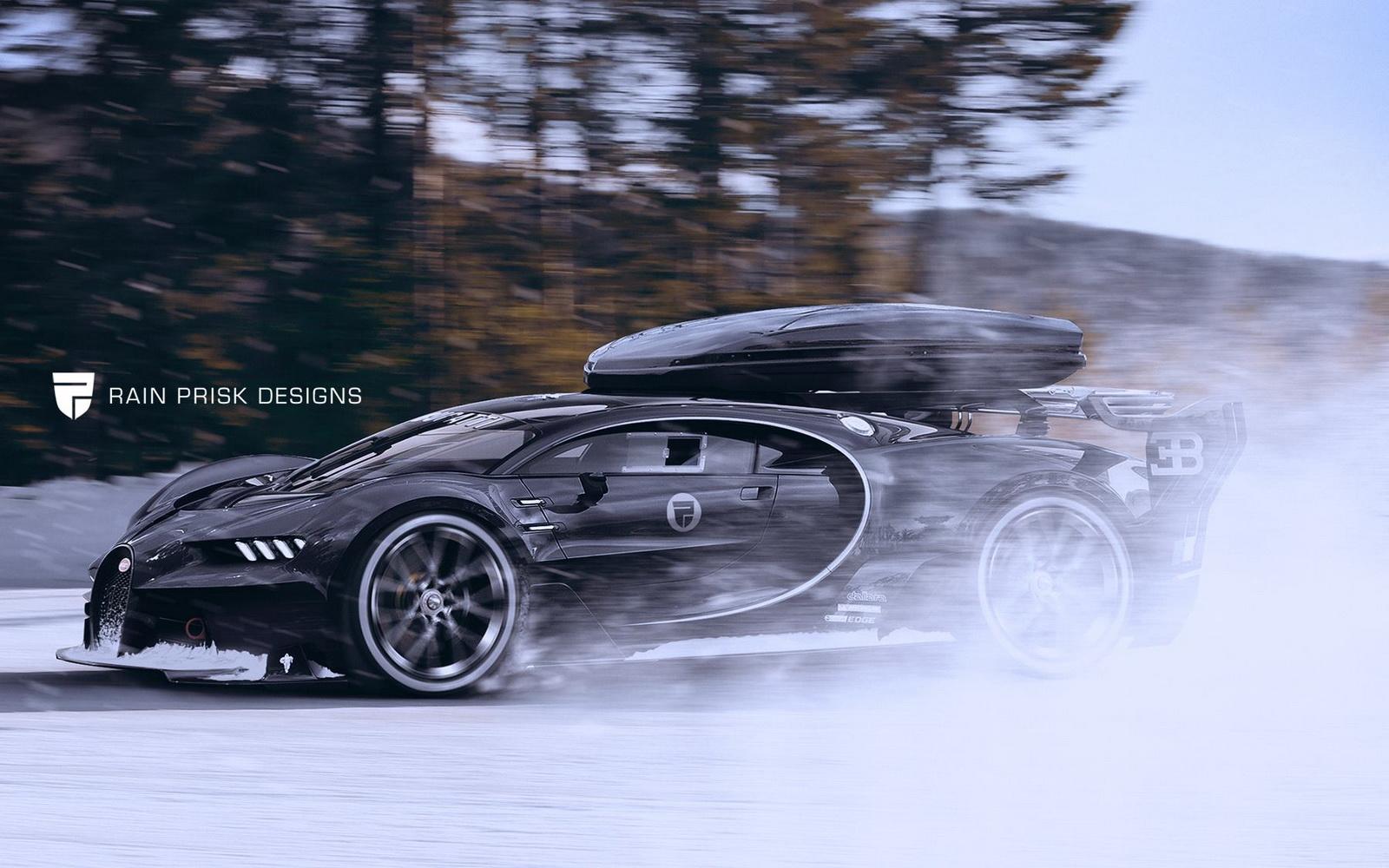 Bugatti Chiron Ski
