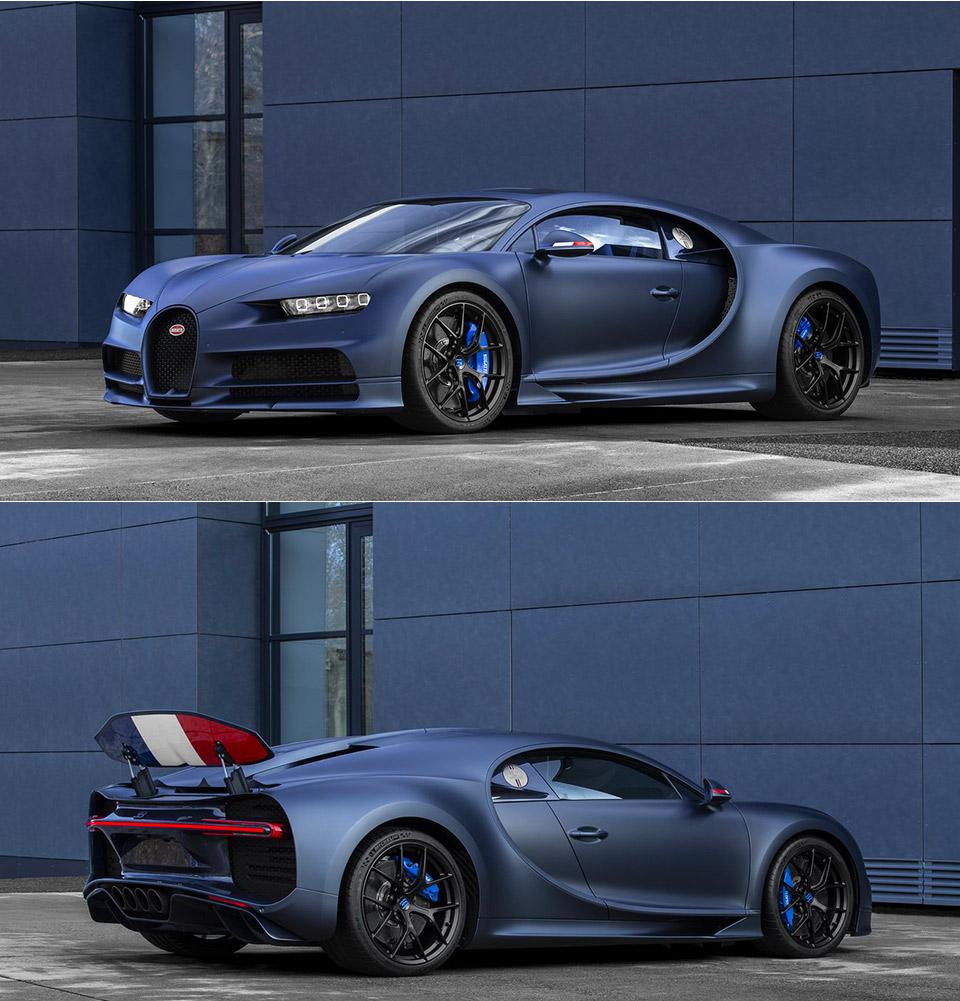 Bugatti Chiron Sport: Sleek Matte Blue Bugatti Chiron Sport 110 Ans Edition