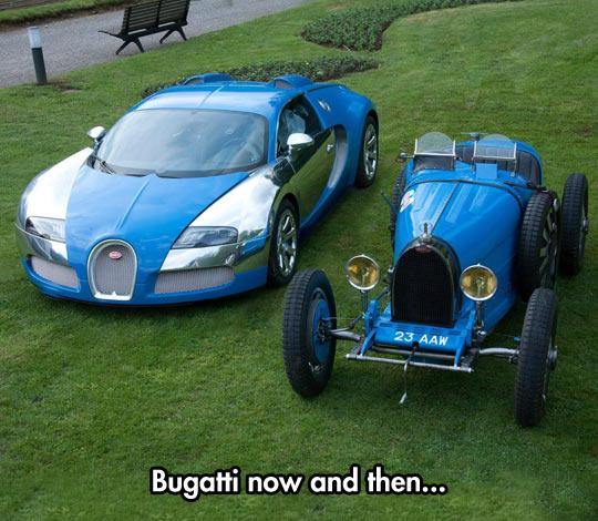 Bugatti Then vs. Now