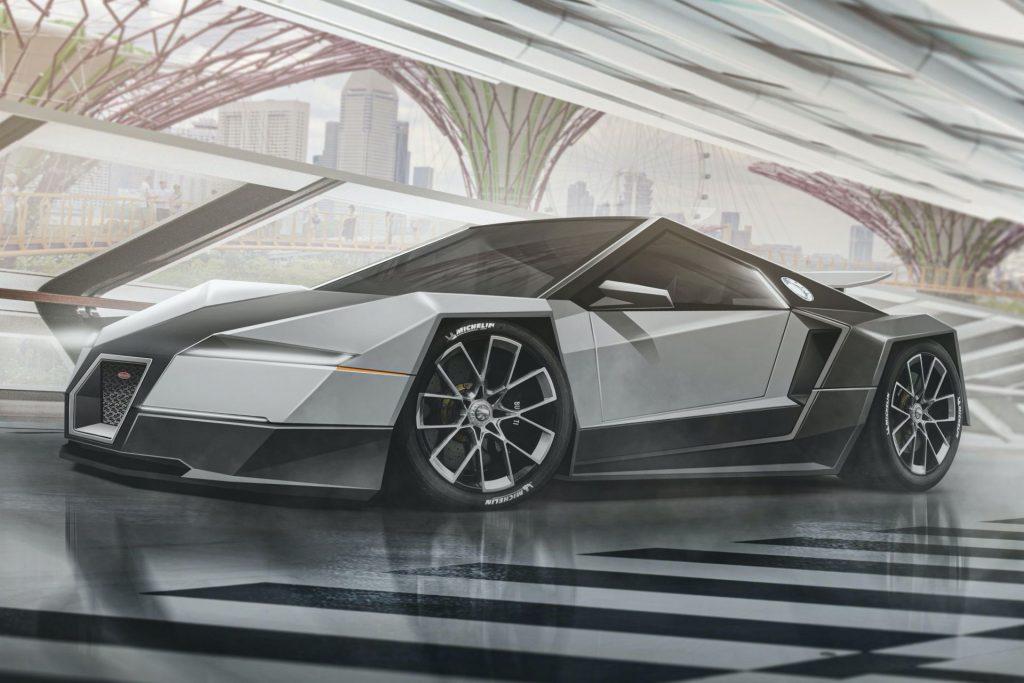 Bugatti Veyron Tesla Cybertruck