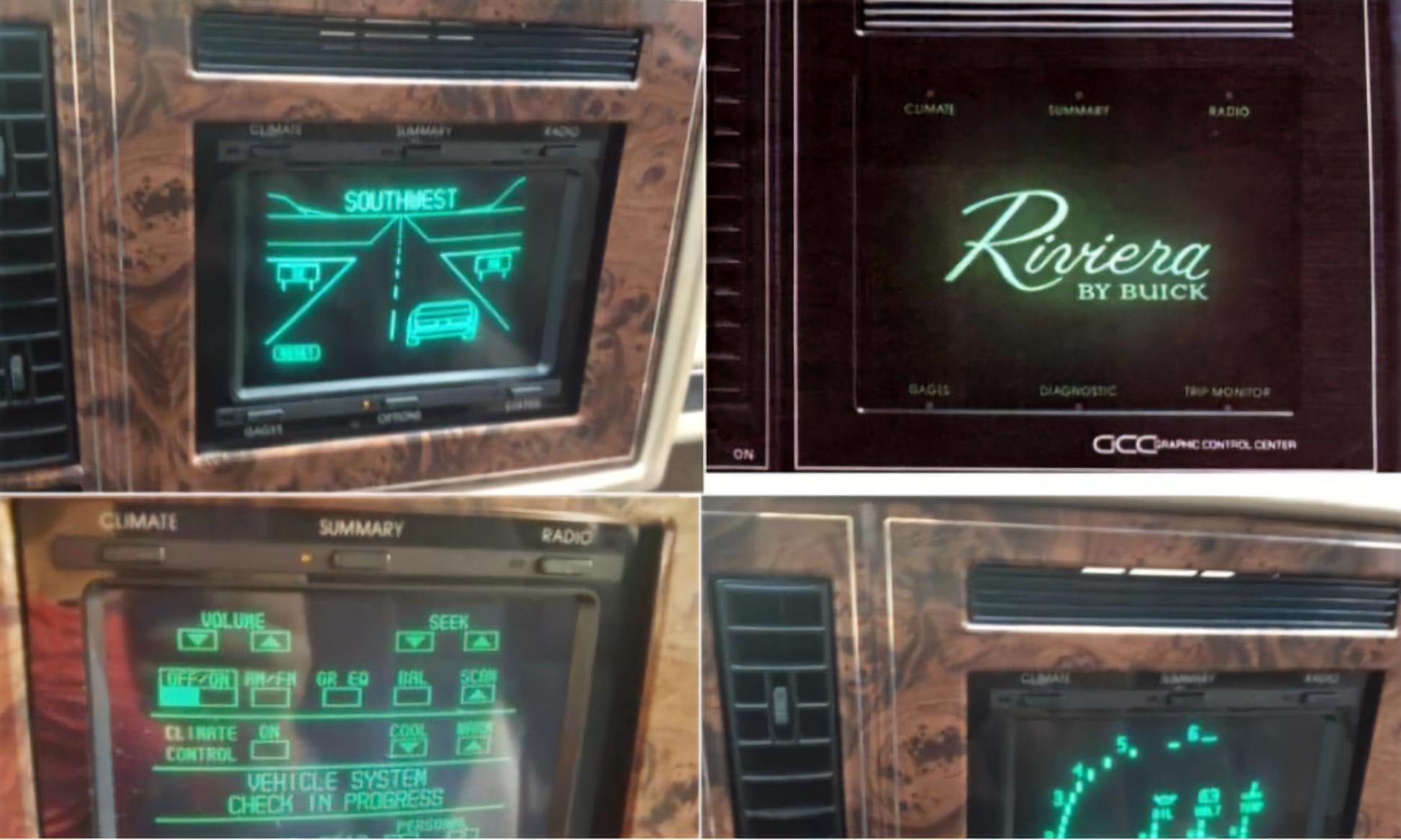 Buick Riviera Touchscreen Graphic Control Center GCC