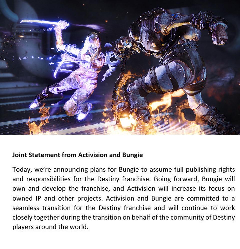Bungie Activision Destiny 2