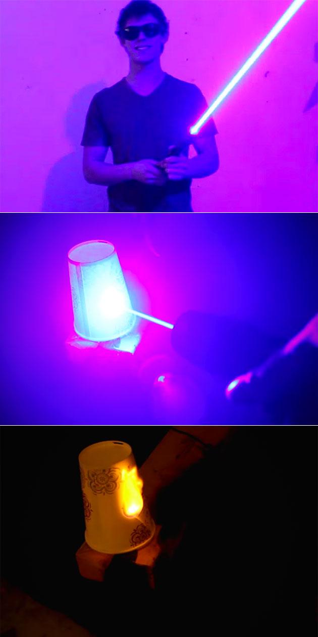 Burning Lightsaber