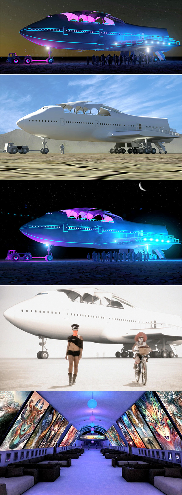 Burning Man 747