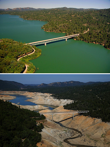 California Drought Before After