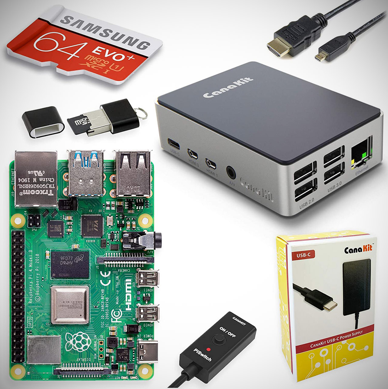 CanaKit Raspberry Pi 4 Starter PRO 64 Kit