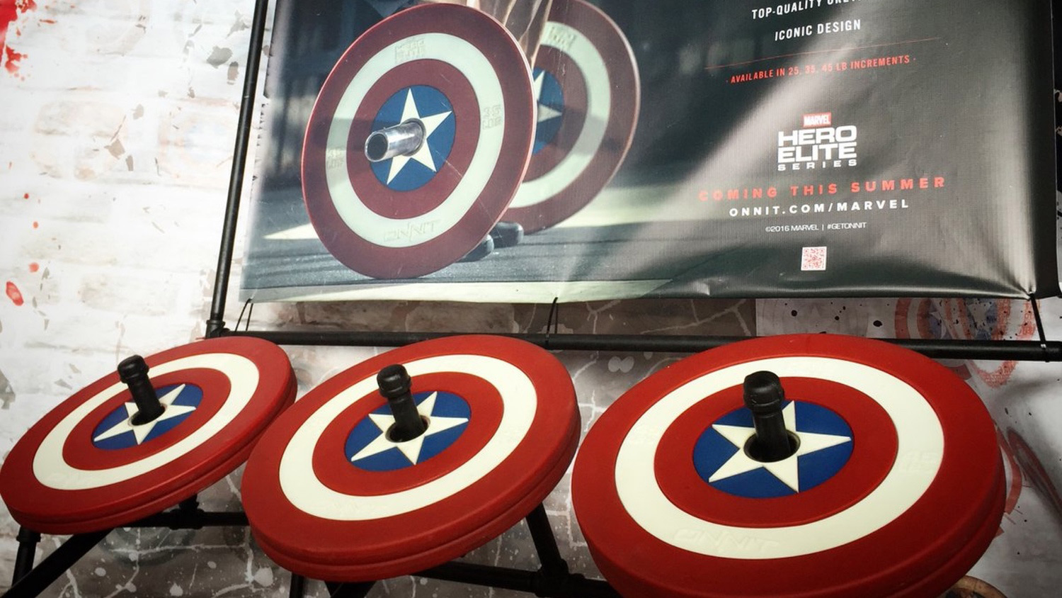 Captain America Barbell Plates