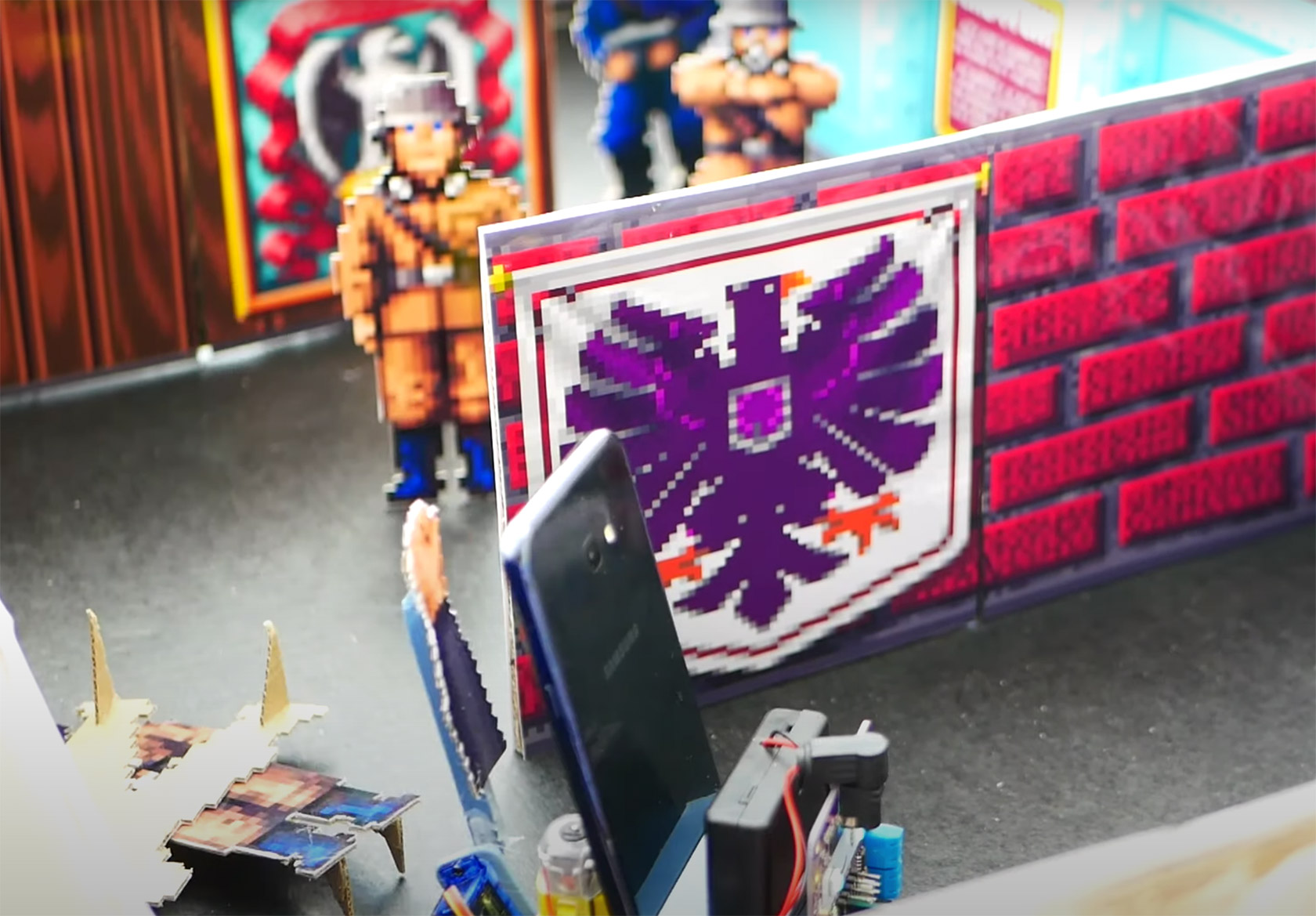 Cardboard Robot Wolfenstein 3D Game