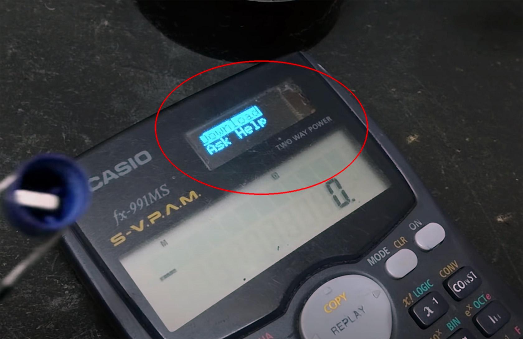Casio ESP8266 Wi-Fi Calculator