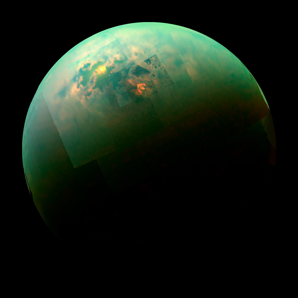 Cassini-Huygens Lakes of Titan Saturn