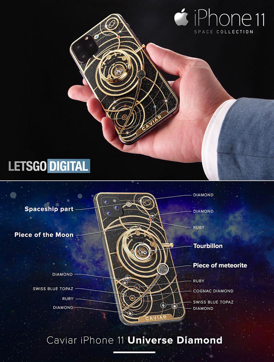 Caviar iPhone 11 Universe Diamond