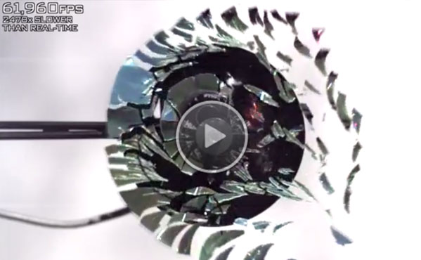 CD Shattering Slow Motion 170,000 FPS