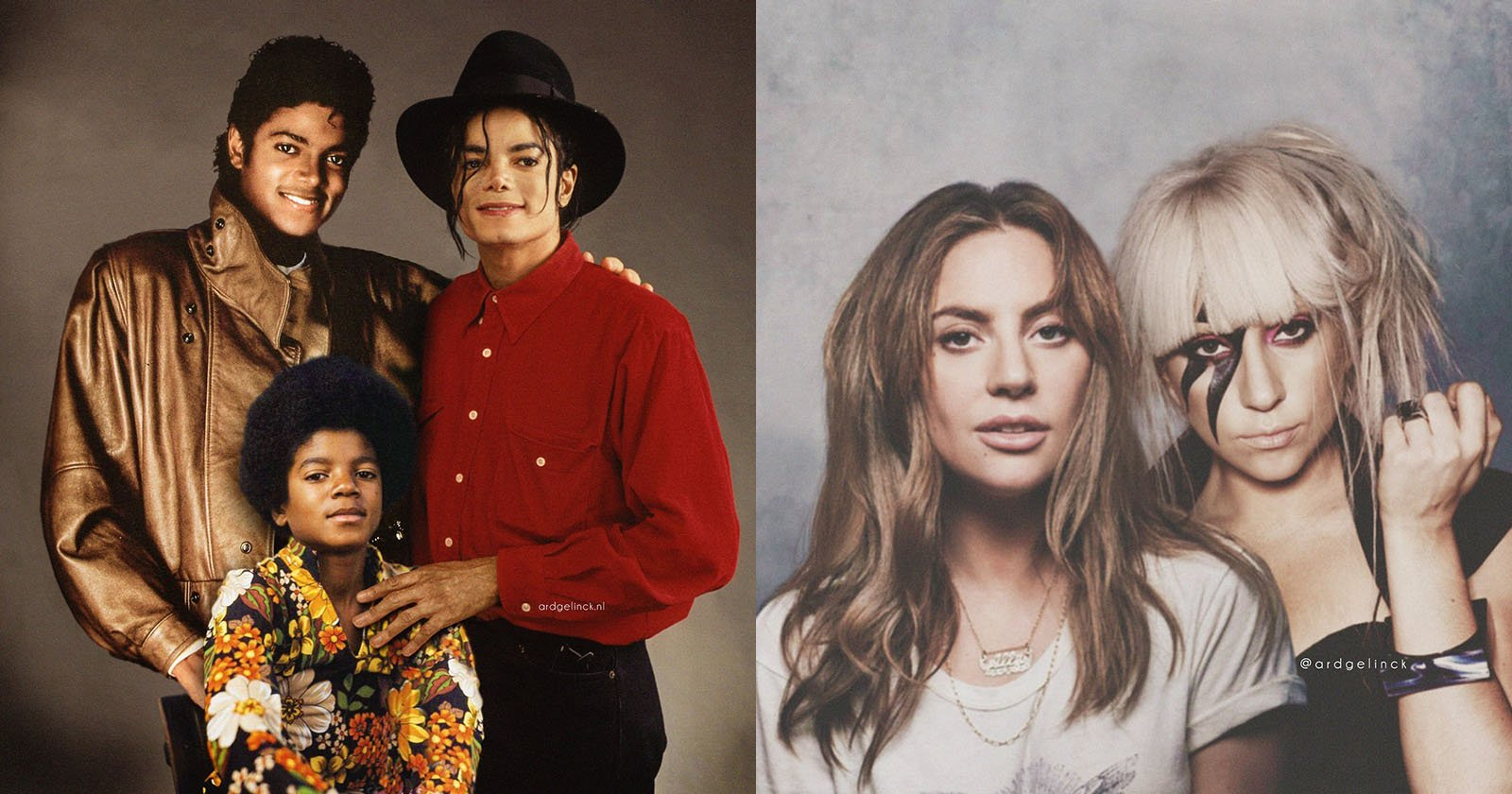 Celebrities with Their Younger Selves